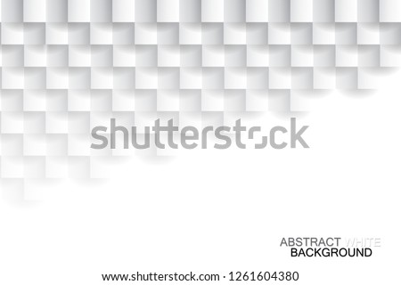 Abstract white tiled texture background, vector design.  #1261604380