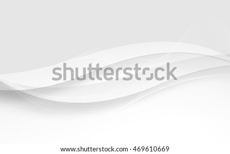 abstract white waves vector