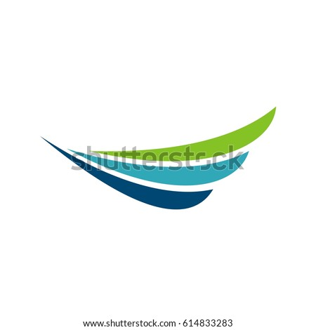 abstract wing logo template