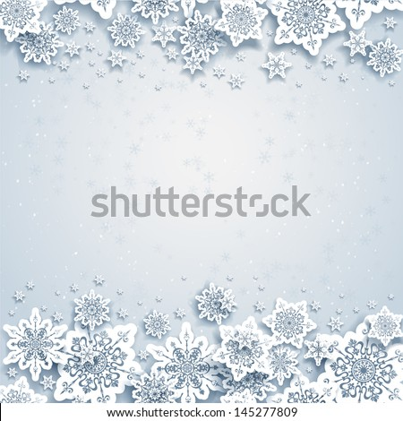 abstract winter background with
