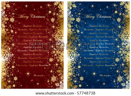 Abstract winter backgrounds, with stars and snowflakes, illustration