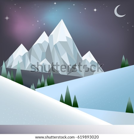 abstract winter forest with