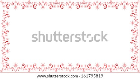 Abstract winter holiday frame #161795819