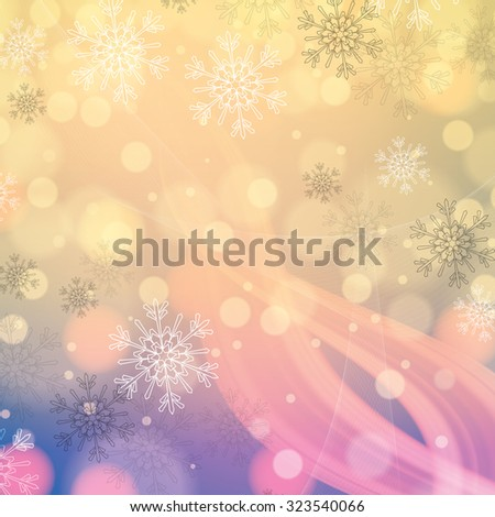 abstract winter light colors