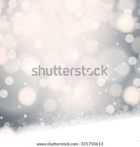abstract winter silver