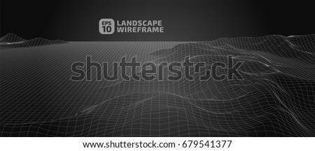 abstract wireframe background