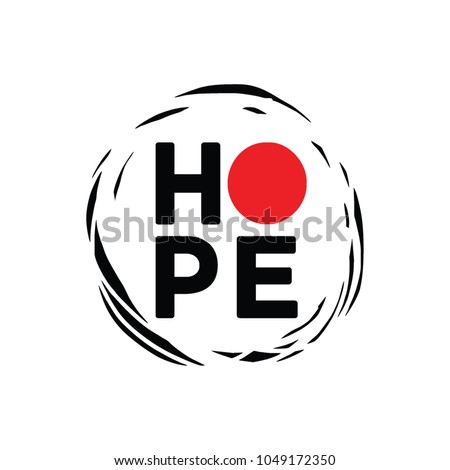 Abstract With Letter HOPE