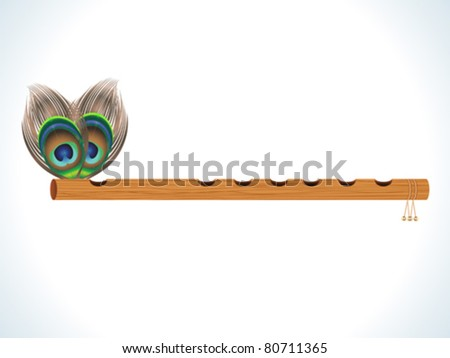 abstract wood flute with