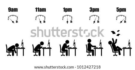 abstract working hours life