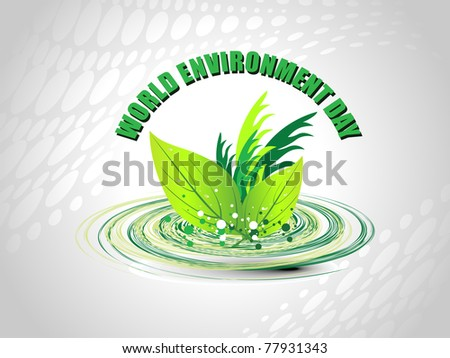 abstract world environment day concept background, illustration - stock vector