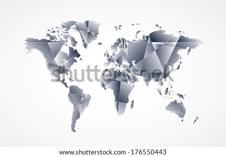 Vector de mapa de amrica del sur moderno descargue grficos y abstract world map background in polygonal style vector format gumiabroncs Gallery
