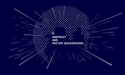Abstract world map concept, artificial intelligence and internet big data, virtual technology