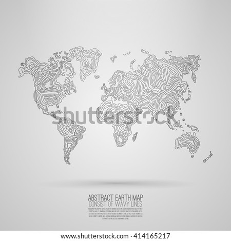abstract world map consist of