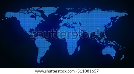 abstract world map  dotted map