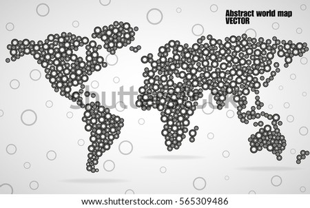 9 stylish vector world map vector download free vector art stock abstract world map from circles vector illustration eps 10 gumiabroncs Gallery