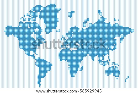 abstract world map in blue dot