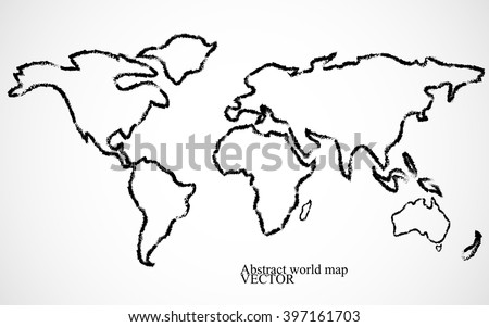 Sketch world map vectors download free vector art stock graphics abstract world map vector illustration gumiabroncs Gallery