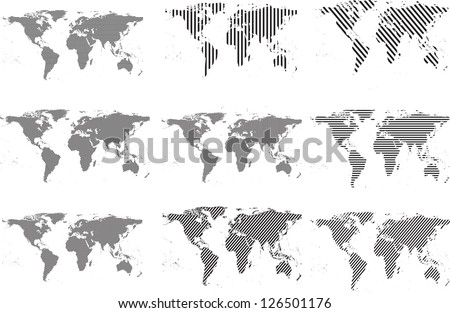 abstract world maps