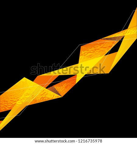 Abstract yellow and black Sports banner design. Vector web header background