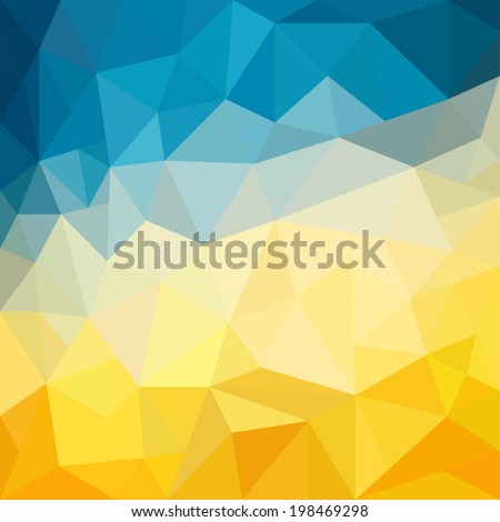 abstract yellow and blue...