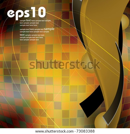 Abstract yellow and orange background. Eps 10 vector illustration