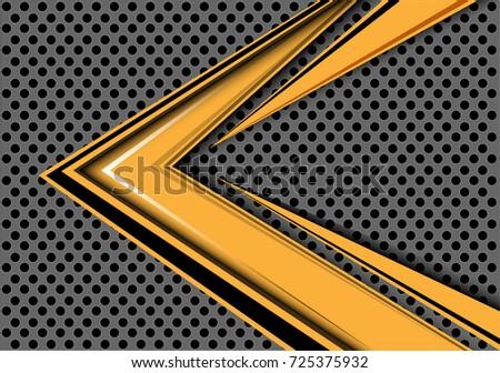 abstract yellow arrow speed
