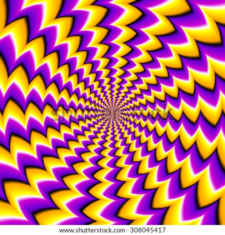 Abstract yellow background (spin illusion)