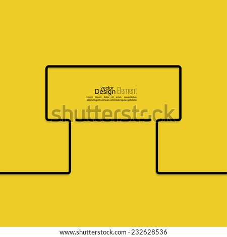 Abstract yellow background with black signs. Road sign. Warning. blank space for advertising, ads, text