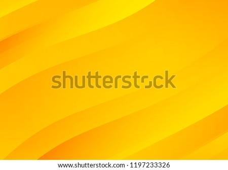 Abstract Yellow Background with Waves. Vector Minimal Banner.