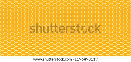Abstract yellow beehive raster background plate icon. Honeycomb bees hive cells pattern. Funny bee honey shapes vector icons for banner or wallpaper. Fun texture hexagon cell signs