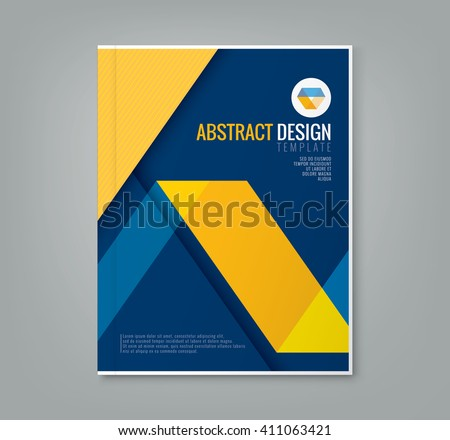 stock-vector-abstract-yellow-line-design-on-blue-background-template-for-business-annual-report-book-cover