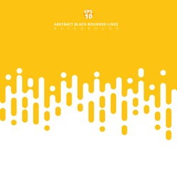 Abstract yellow mustard Rounded Lines Halftone Transition. Vector Background Illustration