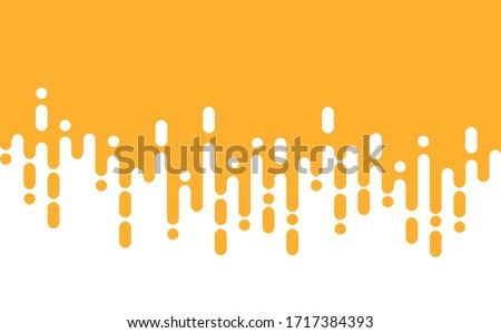 Abstract yellow mustard Rounded Lines Halftone Transition. Vector Background Illustration Stockfoto ©