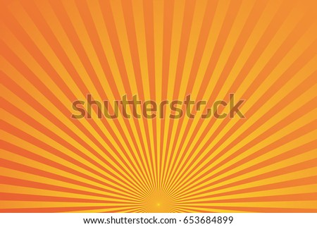 Abstract yellow orange radial background. Bright vector illustration