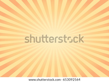 Abstract Yellow Orange rays background. Vector EPS 10 cmyk
