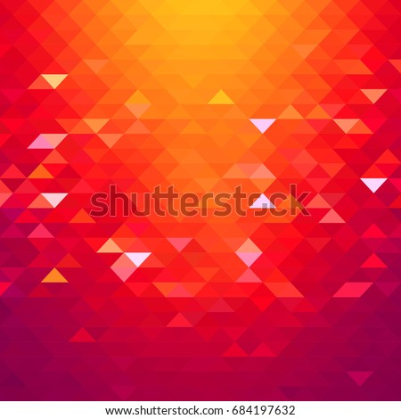 Abstract yellow & red geometric background. Backdrop with soft color tones.