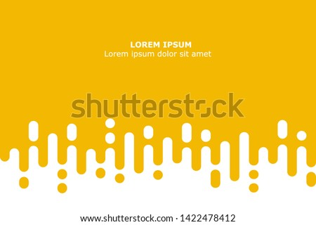 Abstract yellow Rounded Lines Halftone Transition #1422478412