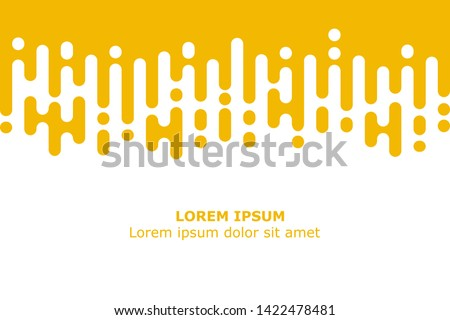 Abstract yellow Rounded Lines Halftone Transition #1422478481