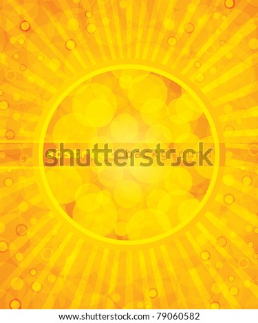 Abstract yellow summer background