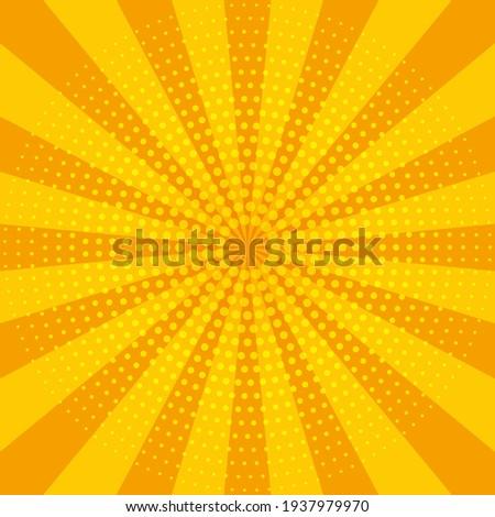 Abstract yellow sun rays. Summer vector sunray illustration for design Сток-фото ©