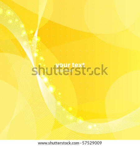 abstract yellow vector