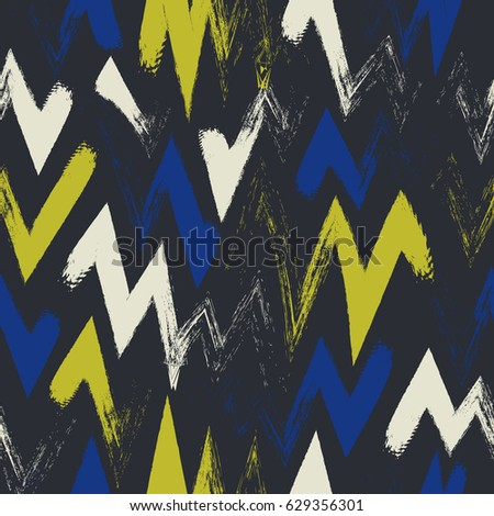 abstract zigzag painting style