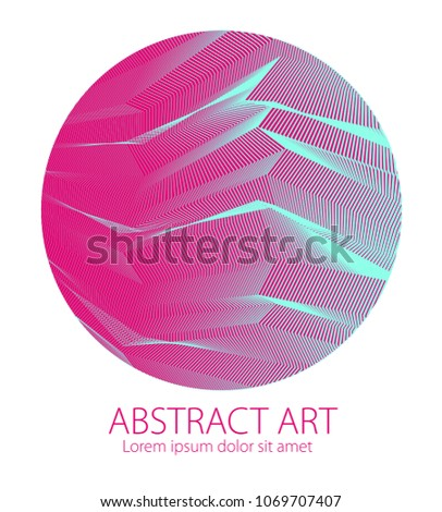 abstraction art linear textured