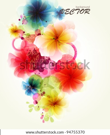 Abstraction floral background