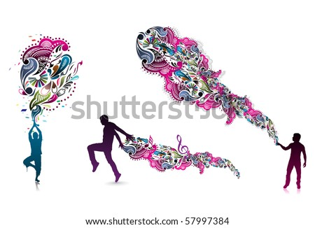 abstraction on a background of magician create a magic power, vector illustration