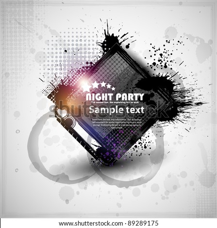 Abstraction template grunge party. Vector eps10