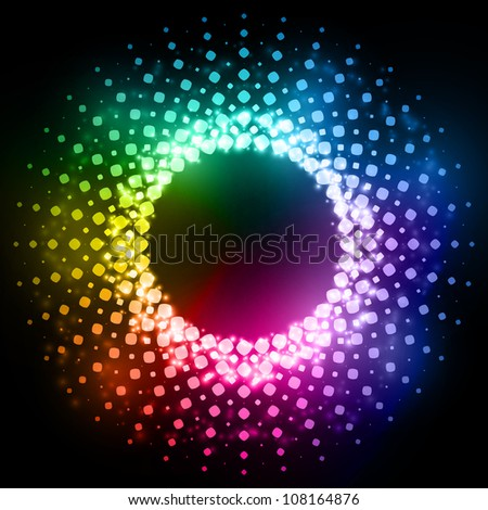 Abstracts rounded dots background