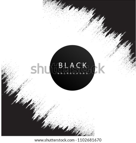 Abstractt White Vibration Pattern Black Background Vector Image