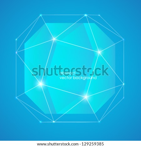 abstraktry vector background on blue background