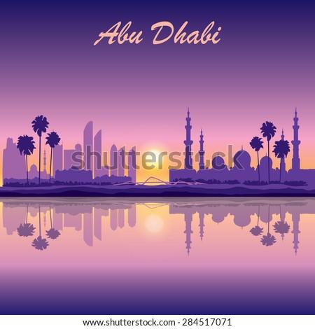 abu dhabi skyline silhouette